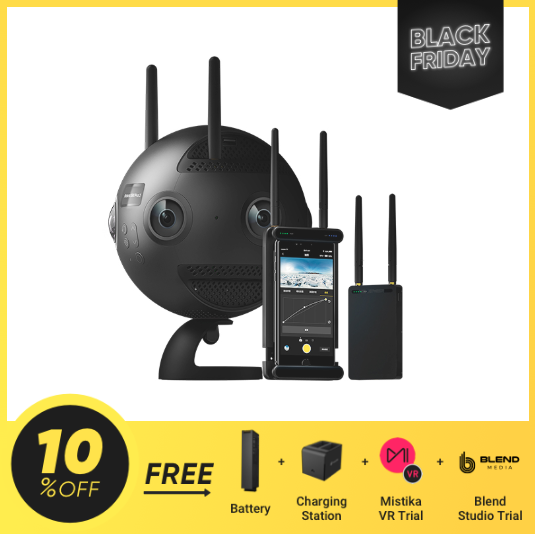Video 360's 360˚ 8K Insta360 Pro 2 With Big Free Accessory Package Black Friday Sale Now!